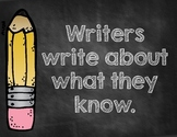 Writers Write About What They Know-Chalkboard Style