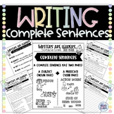 Writers are Leaders Complete Sentences Unit Packet