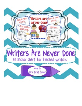Writers are never done!