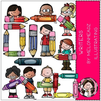 Writers clip art - COMBO PACK- by Melonheadz
