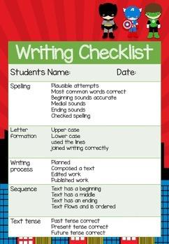 Writer's checklist: Superhero theme