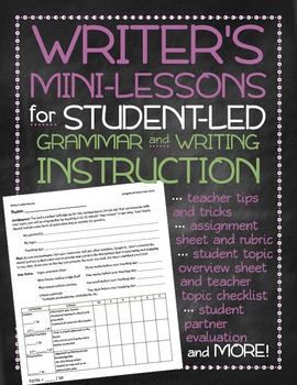Writer's mini-lessons for student-led grammar and writing
