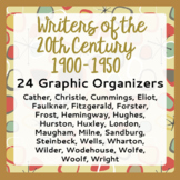 Author Study Project 20th Century 1900-1950 24 Graphic Organizers