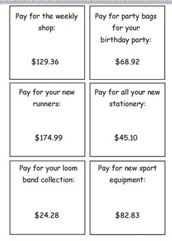 Write numbers as words using cheques