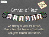 Banner with writing sample with best wishes Christmas New Year. Display. Art