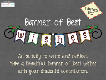 Banner with writing sample with best wishes Christmas New