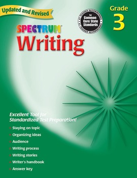 Spectrum Writing Grade 3 SALE 20% OFF! 0769652832