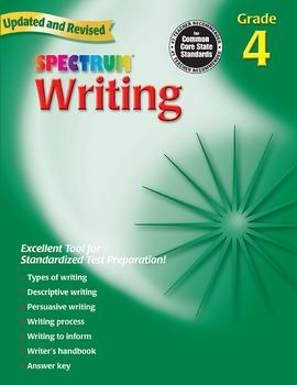 Spectrum Writing Grade 4 SALE 20% OFF! 0769652840