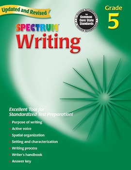 Spectrum Writing Grade 5 SALE 20% OFF! 0769652859