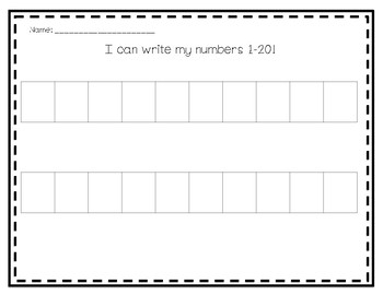 Writing 1-20 Assessment