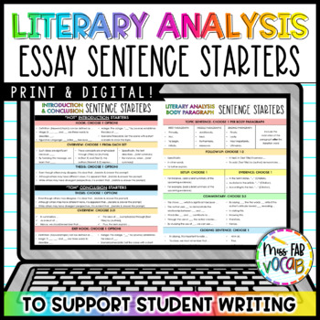 Writing 101- Essay Sentence Starters