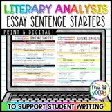 Essays Writing: Sentence Starters