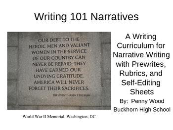 Writing 101 Narrative Writing Curriculum