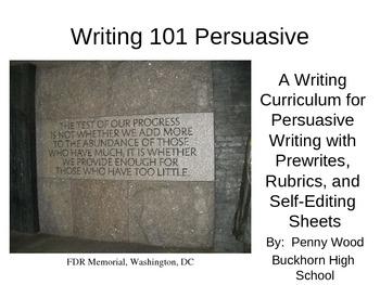 Writing 101 Persuasive Writing Curriculum
