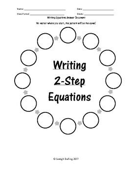 Writing 2-Step Equations Scavenger Hunt