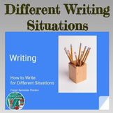 Writing PowerPoint - Different Kinds of Writing