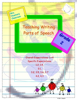 Writing 2nd unit- Parts of Speech and Diamante Poems
