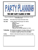 Writing 3rd grade Party Planning