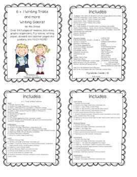Writing, 6+1 Writing Traits, lesson plan, printables, students pages, and more!