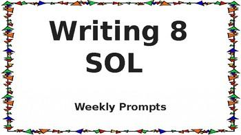 Writing 8 SOL Prompts - VA SOL