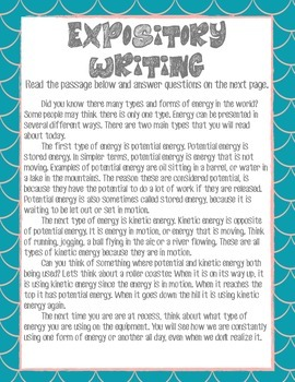 Writing: A Closer Look at Expository Writing