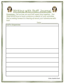 Recount Writing - Class Mascot Guide, Printables and Writing Paper