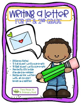 Writing A Letter Prompts for 1st and 2nd grade