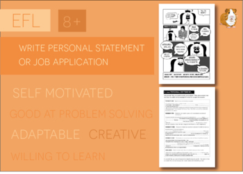 Writing A Personal Statement Or Job Application (EFL Work Pack) 8+