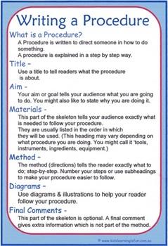 Writing A Procedure Cheat Sheet
