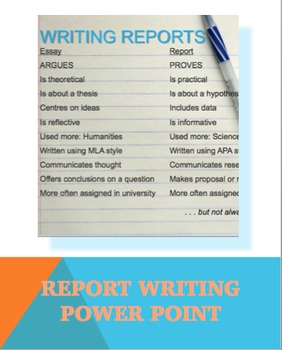 Report Writing Mini Lesson PowerPoint