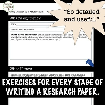 Teaching research papers