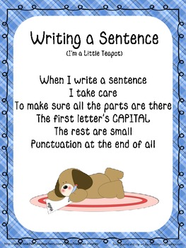 Writing A Sentence Song