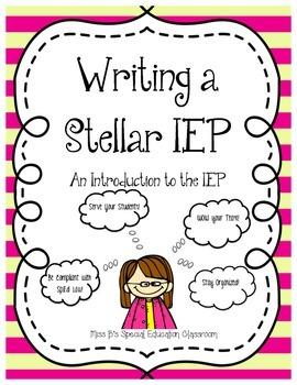 Writing A Stellar IEP