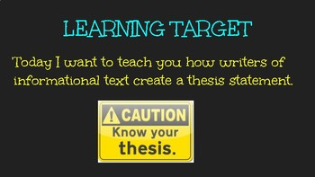 Writing A Thesis Slideshow