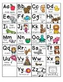 Writing-ABC Alpha Friends Anchor Chart
