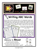 Writing ABC Words. A fun way to build confident writing! Great Center Activity!
