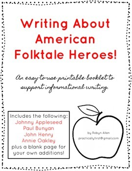 Writing About American Folktale Heroes!
