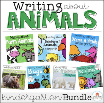 Writing About Animals Kindergarten Bundle