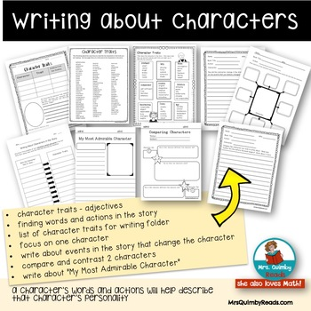 Writing About Book Characters [Traits, Words and Actions]