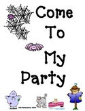 """""""Come to my Party"""" Writing About Characters ANY Time of Year With ANY story!"""