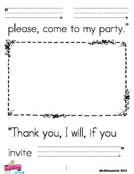 """Come to my Party"" Writing About Characters ANY Time of Year With ANY story!"