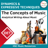 Writing About Dynamics and Expressive Techniques in Music