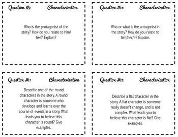 Writing About Fiction -- Task Cards for Grades 6-8 {CCSS}
