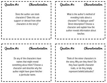Writing About Fiction -- Task Cards for Grades 9-12 {CCSS}