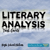 Analyzing Literature/Response to Literature--Task Cards for Grades 9-12 {CCSS}
