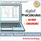Writing About Functions for Google Slides™ Distance Learning