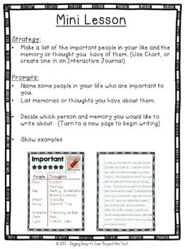 Writing About Important People Mini-Lesson