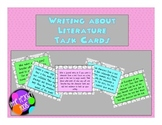 Writing About Literature Prompt Task Cards