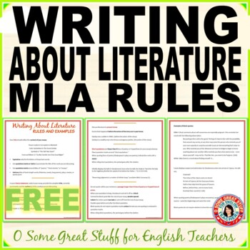 Writing About Literature Rules and Examples