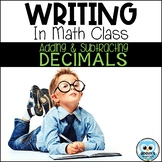 Writing About Math   Adding & Subtracting Decimals